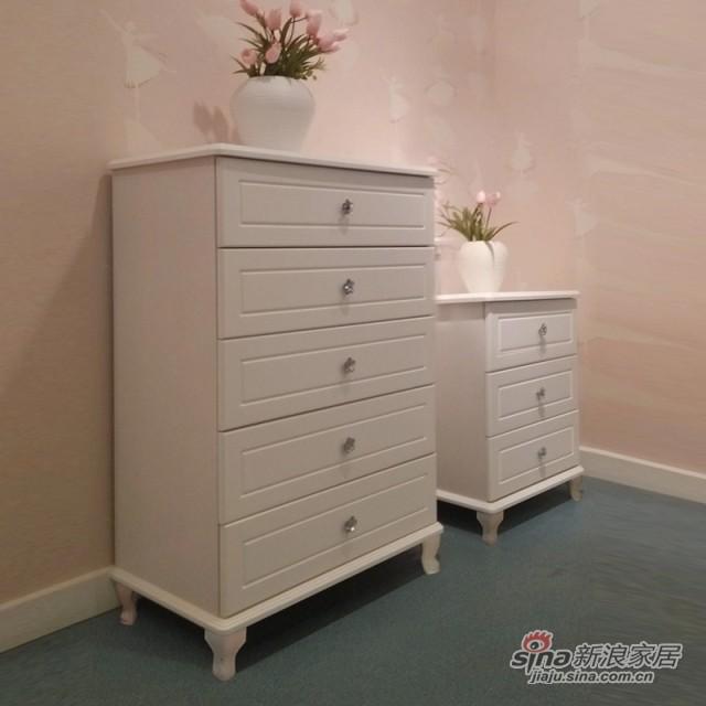 【新干线】板木奶白色/米黄色斗柜桶柜抽屉柜储物柜-1