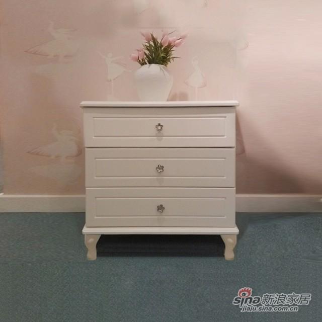 【新干线】板木奶白色/米黄色斗柜桶柜抽屉柜储物柜-2