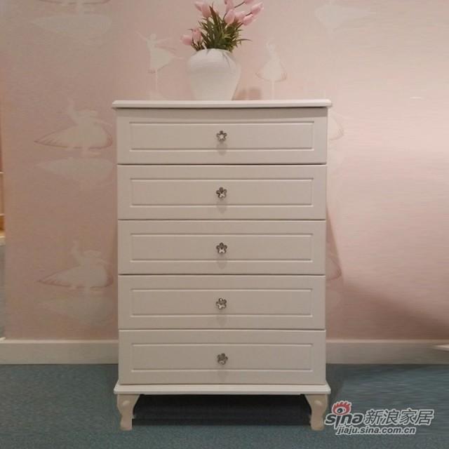 【新干线】板木奶白色/米黄色斗柜桶柜抽屉柜储物柜-3