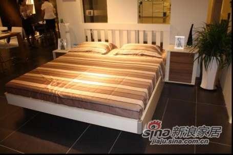 耐特利尔家具自然空间;麦白色箱体双人床 -0