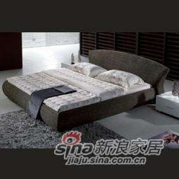 B&E佰宜家居 时尚软体家具 卧室 软包床 布艺床 SD605 (非定制) -0