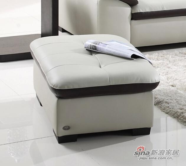 左右沙发真皮沙发配套脚踏