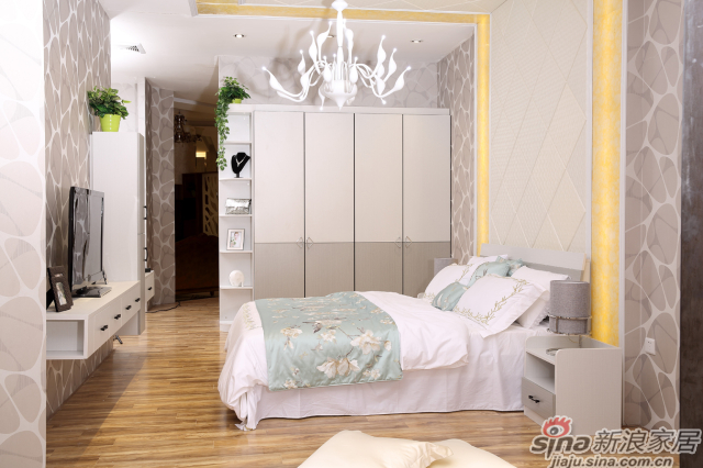 合生雅居白布纹床-0