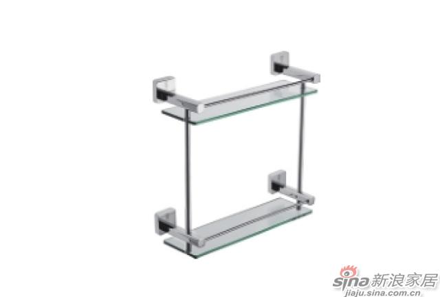 SM3203C双层玻璃置物架