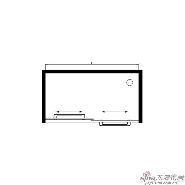 航标卫浴不锈钢淋浴屏风(双活)-1