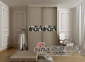 板式新白橡 百叶移门衣柜