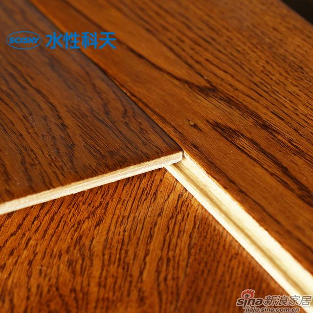 蓝山咖啡栎木实木复合地板-4