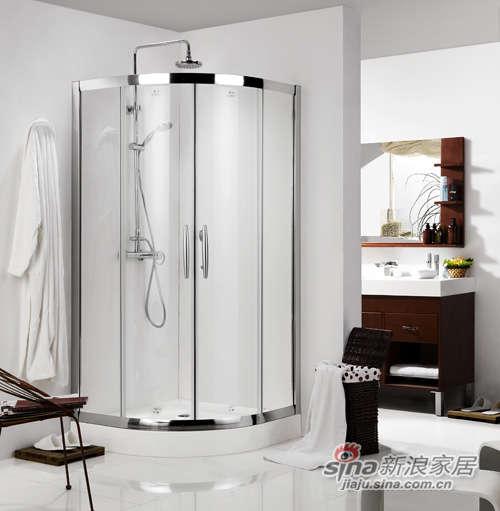 德立圆弧型淋浴房-0