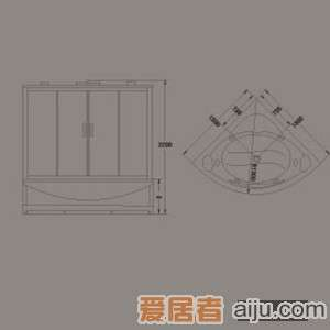 惠达-HD2301-DS蒸气淋浴房2