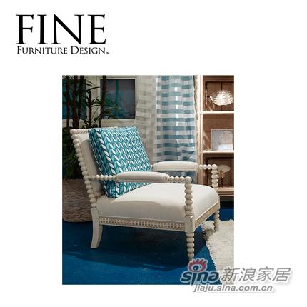 FINE精制单人沙发椅小巧时尚白色经典美式休闲小清新