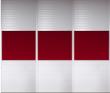 暖白+圆弧百叶+立柱边框+中国红高档玻璃