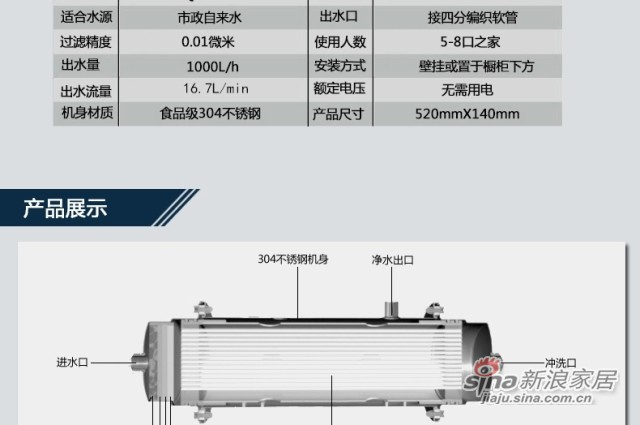 净之泉 JZQ-1000-CY-4
