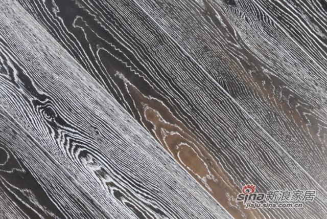 金桥地板三层实木复合地板无醛环保木地板锁扣柞木黑宝石-1