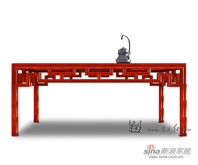 连天红竹节茶桌-2