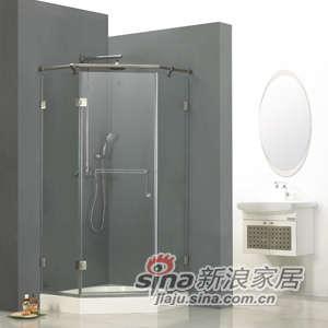 德立钻石形外开门淋浴房-0