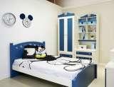 迪士尼儿童彩色家具-美式米奇床