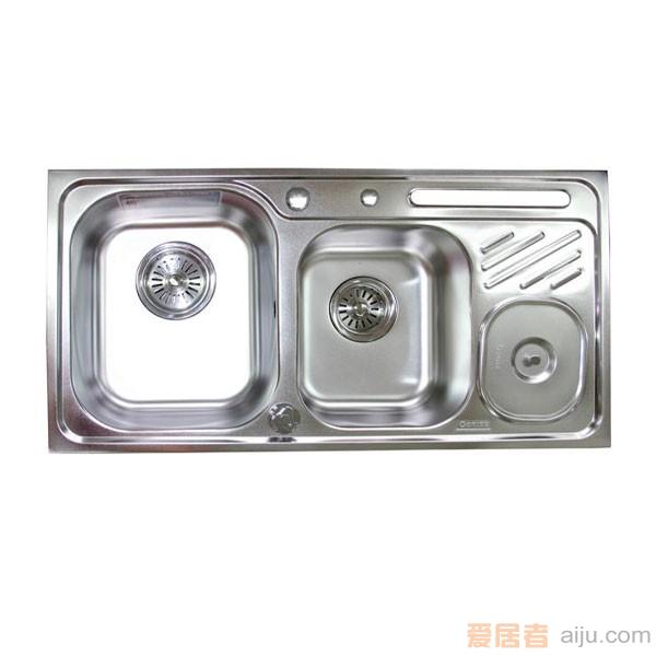 GORLDE优质不锈钢水槽/洗菜池 环保星系列HBS-9#(大小盆)1