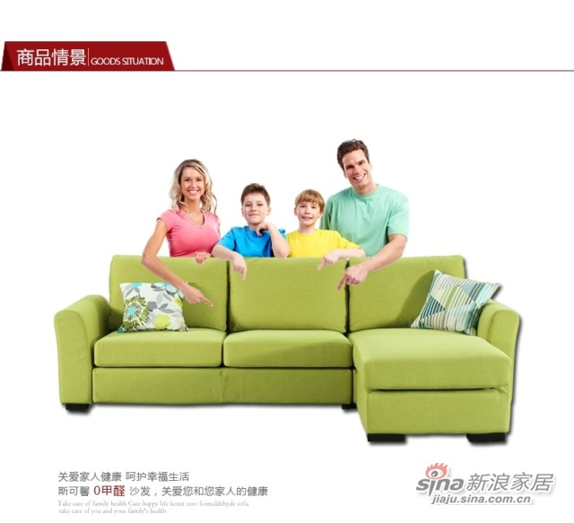 斯可馨 布艺沙发客厅沙发多种组合 -2