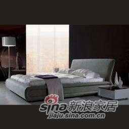 B&E佰宜家居 时尚软体家具 卧室 软包床 布艺床 SD615 (非定制) -0