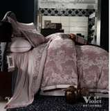 紫罗兰家纺床上用品全棉提花六件套相守VPEK601-6