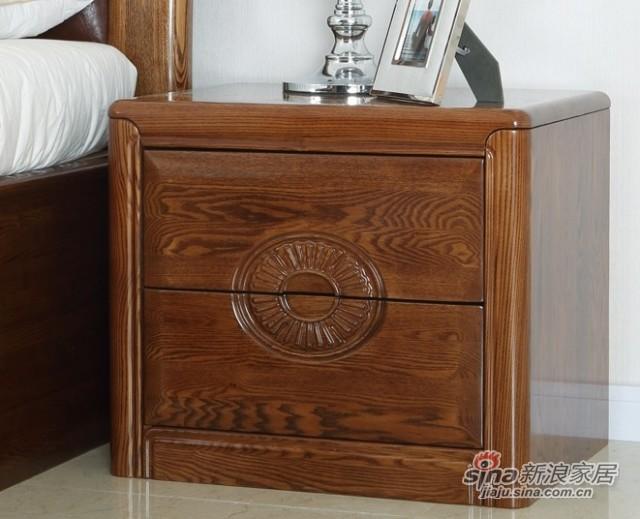 光明全实木卧室床头柜