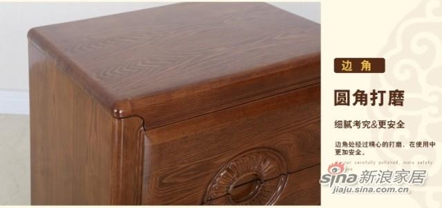 光明全实木卧室床头柜-1