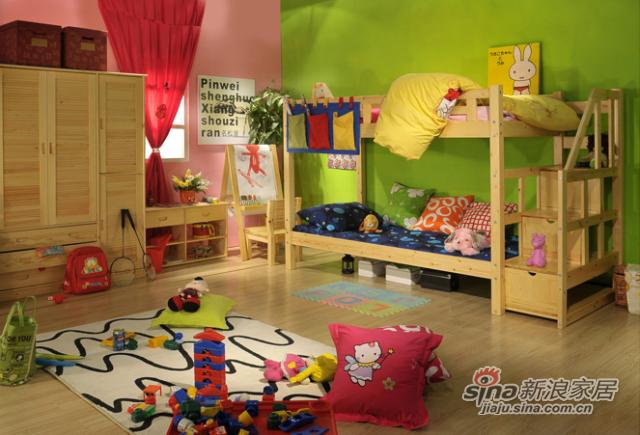 艾森木业名松屋松木系列全实木儿童床