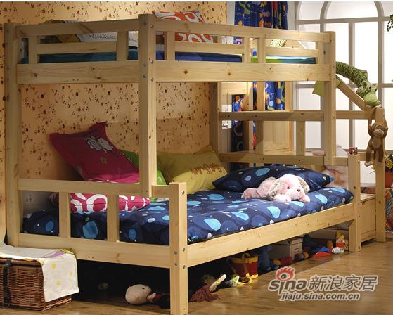艾森木业名松屋松木系列全实木儿童床-1