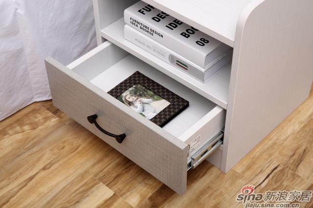 合生雅居米兰白布纹床头柜-1