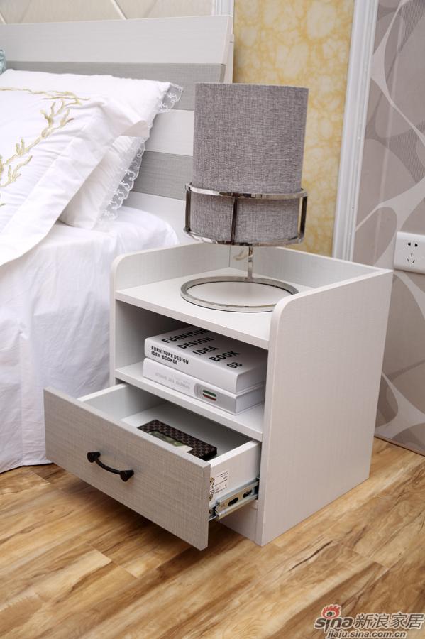 合生雅居米兰白布纹床头柜-2