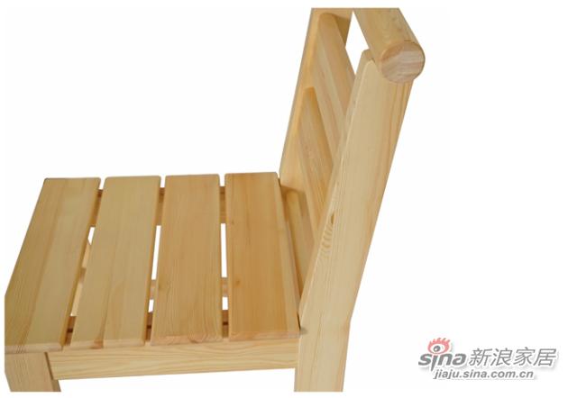 艾森木业名松屋松木系列全实木餐椅-2