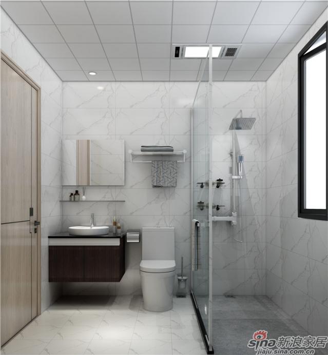 卫生间:以鱼肚白为主调的卫生间端雅大气又历久弥新,线条流畅圆润的洁具让人自然放松,强收纳的浴室柜藏起你所有的小秘密。