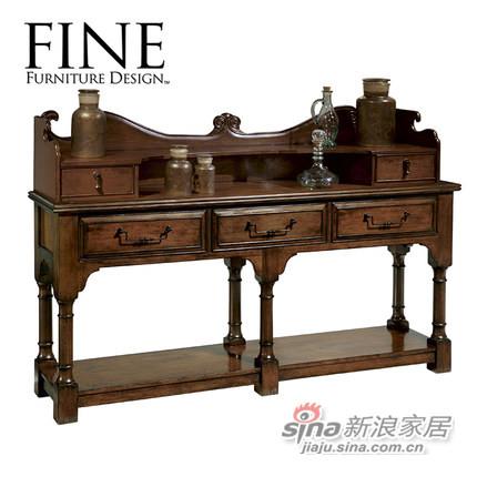 FINE美式简约实木框架餐边柜