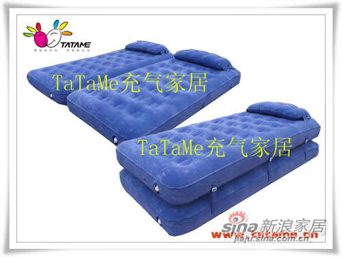 TATAME充气床系列 单双人两层植绒充气床 QP01010A-0