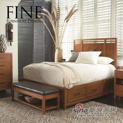 FINE平靠皇帝床 实木框架床