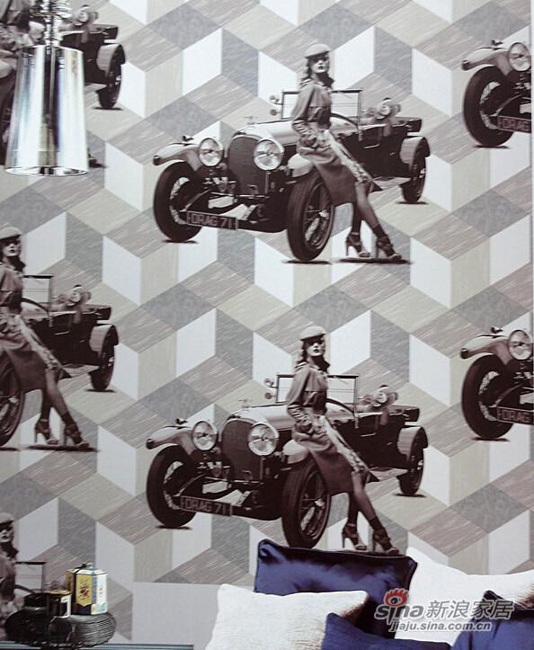 美客壁纸 欧美风格 美女骑车-0