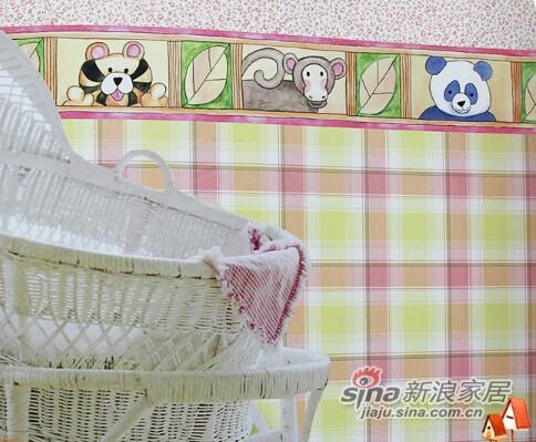 格莱美墙纸美国进口小动物儿童房纯纸壁纸-0