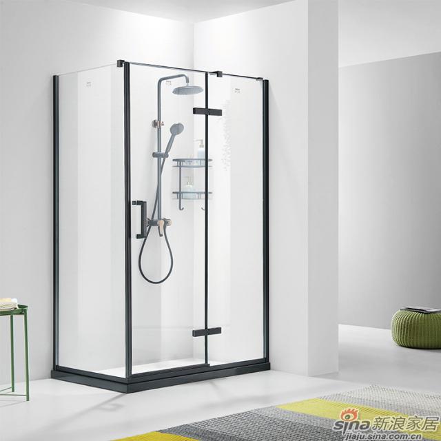 航标卫浴不锈钢淋浴房