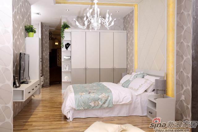 合生雅居米兰白布纹+经典灰布纹平开门衣柜-1