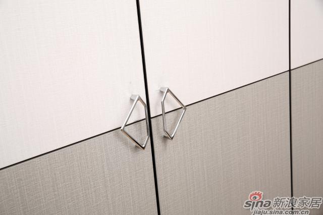 合生雅居米兰白布纹+经典灰布纹平开门衣柜-3