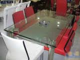罗曼家日B2111玻璃餐桌