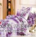 明超雅薇家纺蓝色梦幻钻石棉系列大提花印花四件套-0