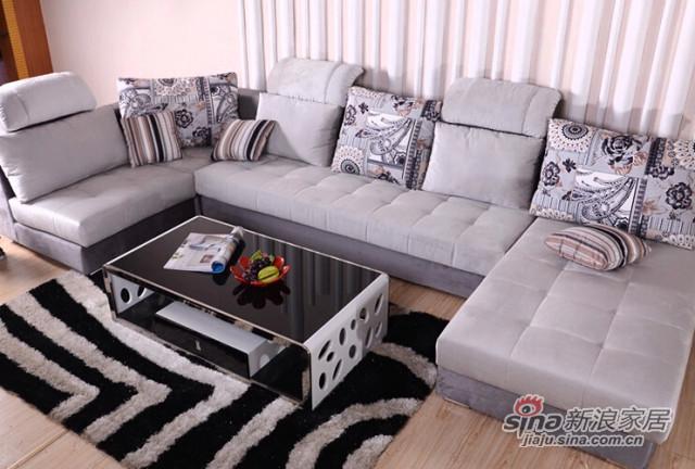 蓝鸟家具 布艺沙发 可拆洗沙发 简约现代可定制LN-BY-0070