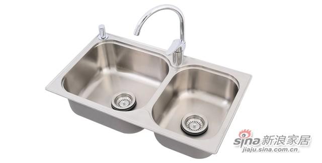 科勒Kohler 304丽笙双水槽厨盆含龙头-1