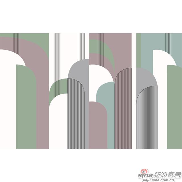 杨特定律_线面交织几何粉色壁画简欧风格背景墙_JCC天洋墙布-2