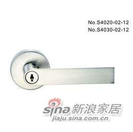 雅洁AS4021-02-12带匙球锁+尼龙镍-0