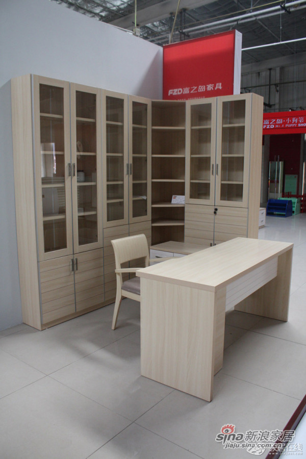 富之岛QZ15-3四门书柜-0