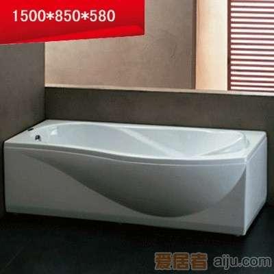 法恩莎双裙浴缸-F1500SQ(1500*850*580mm)1