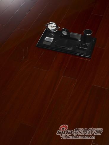 【永吉地板】实木晶砂面——西西里岛 金丝红木本色