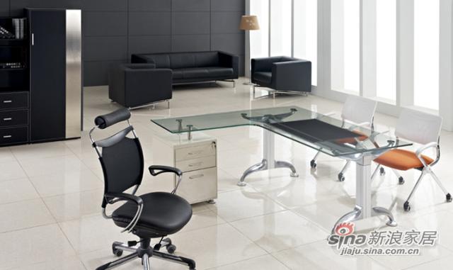 好迪家私玻璃金属办公桌
